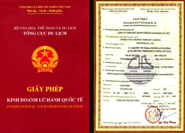 Hồ sơ xin giấy phép lữ hành quốc tế
