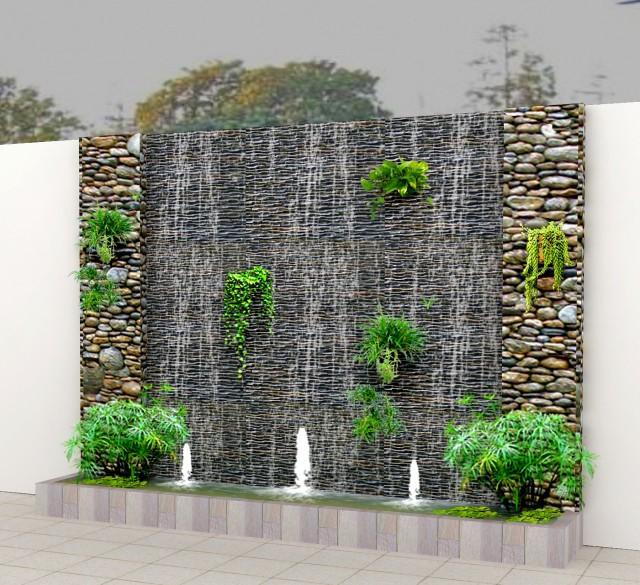 Thiết kế thác nước phong thủy thích hợp với ngôi nhà