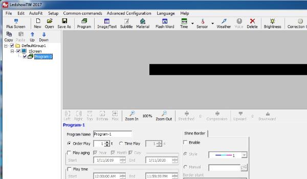Phần mềm lập trình led ma trận LedshowTW
