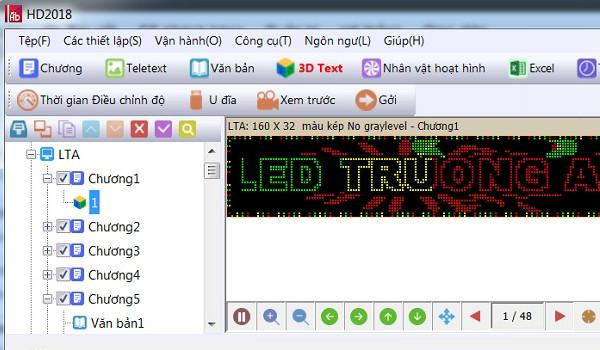 Phần mềm lập trình led ma trận Led HD