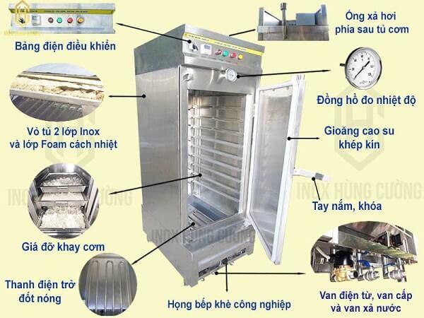 Sản phẩm tủ nấu cớm bằng điện cao cấp.